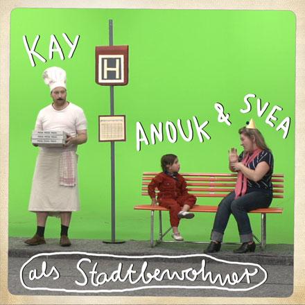 Kay, Anouk und Svea als Stadtbewohner